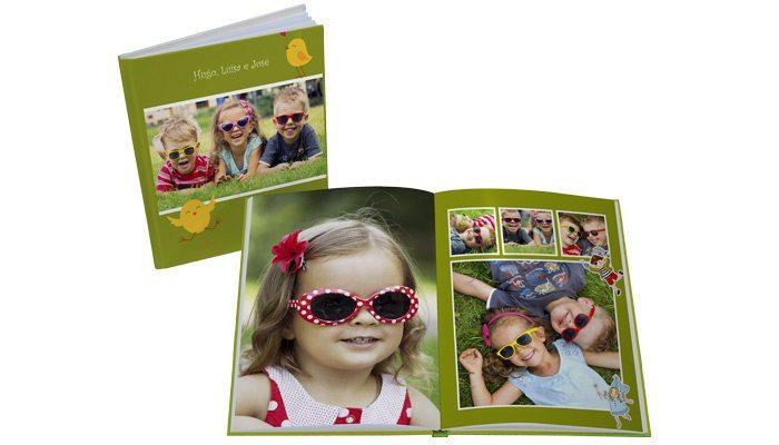 fotolivro capa dura 21x28 retrato detalhe aberto e fechado