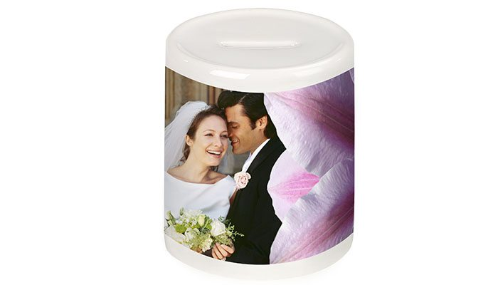 foto detalhe cofrinho cerâmica personalizado com foto