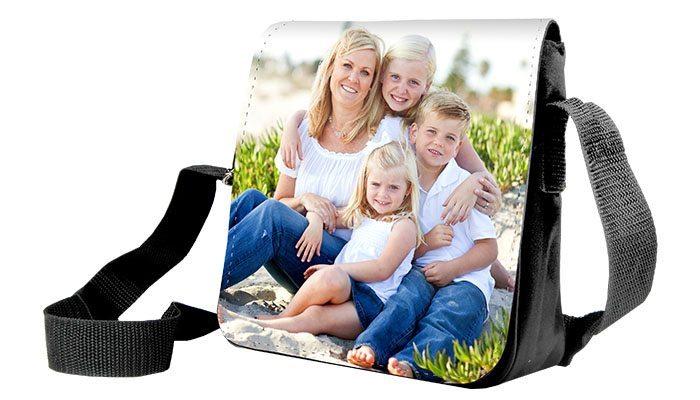 bolsa mensageiro personalizada com foto