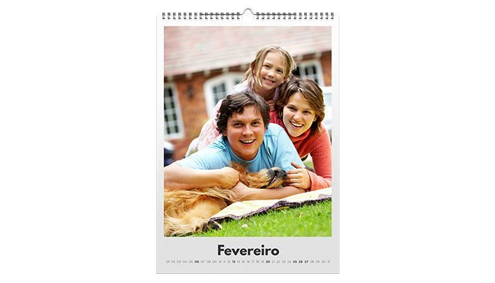 foto detalhe calendário de parede personalizado com foto