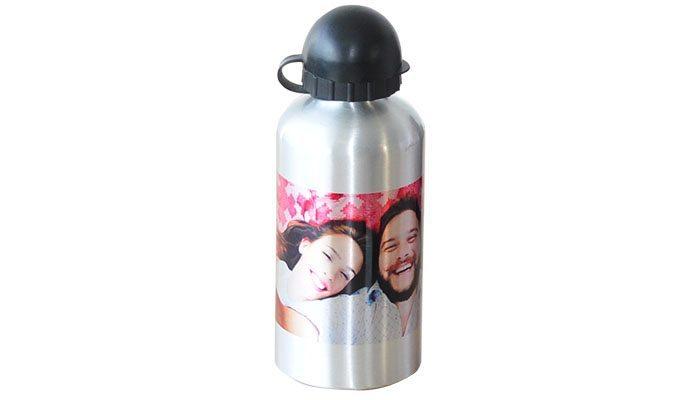 garrafa de alumínio com foto