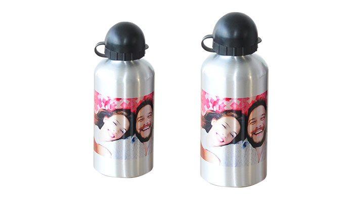 foto detalhe garrafa de alumínio personalizada
