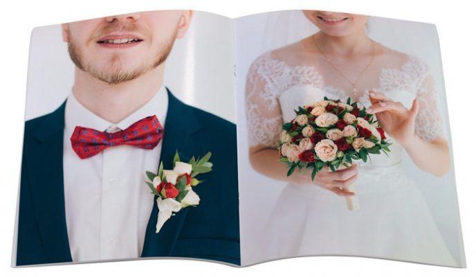 fotolivro revista 21x28 retrato detalhe aberto