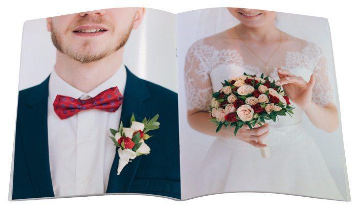 fotolivro revista 21×28 retrato detalhe aberto
