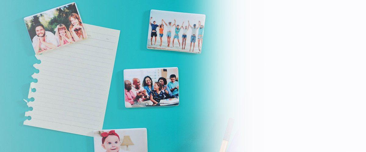 imã de geladeira em cerâmcia personalizado com foto