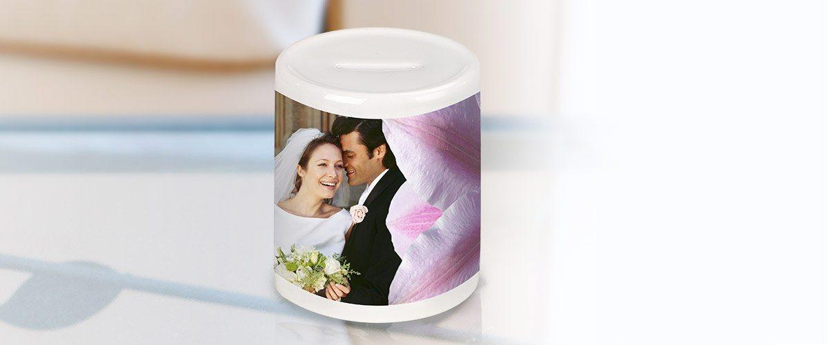 cofrinho de cerâmica personalizado com foto