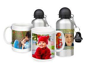 canecas e garrafas personalizadas com foto