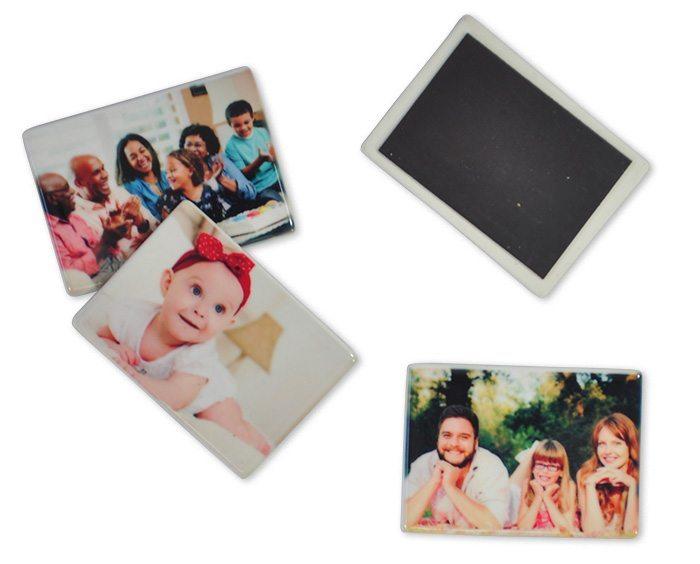 imã de geladeira em cerâmica, personalizado com foto