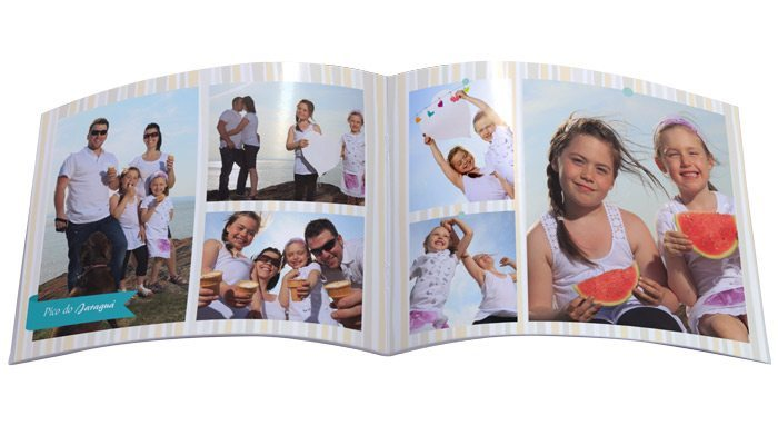 Fotolivro Revista 13x14cm aberto