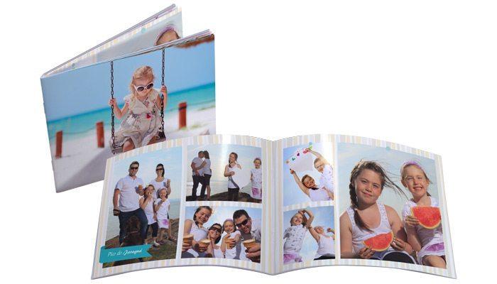 Fotolivro Revista15x19cm aberto e fechado