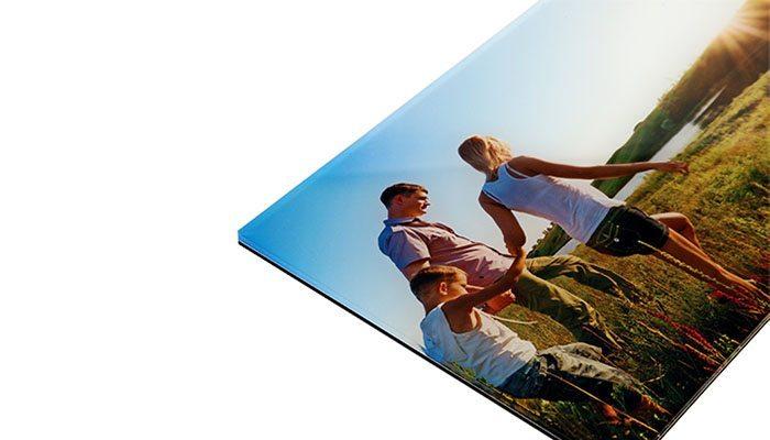 foto detalhe lateral quadro em metacrilato 20x30cm