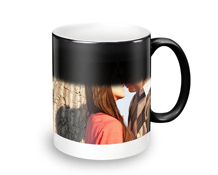 caneca mágica de cerâmica personalizada com foto