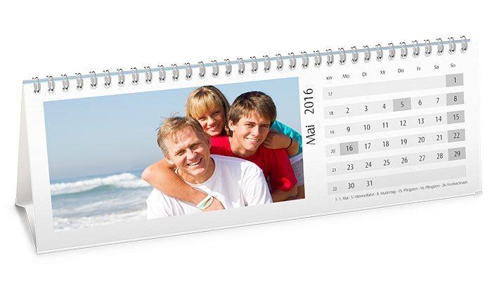 calendário de mesa personalizado com foto 10x30