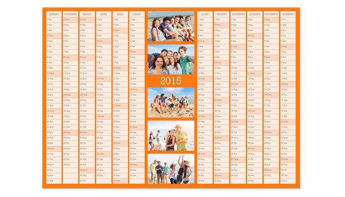 foto detalhe calendário de parede anual personalizado com foto 30x42