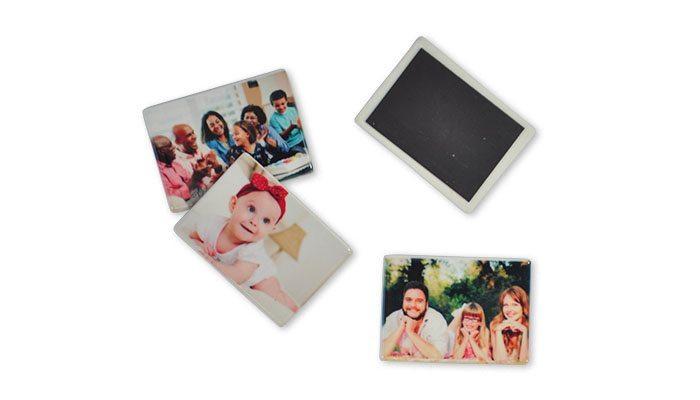 imã de geladeira em cerâmica personalizada com foto