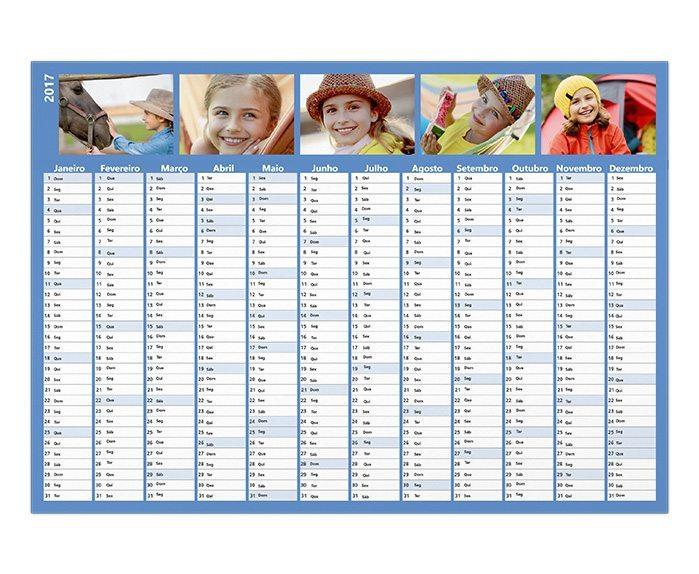 Calendario anual personalizado